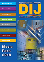 View The Door Industry Journal Media Pack 2018 Digital Edition which contains Advertising Rates, Copy Close Dates and Mechanical Data